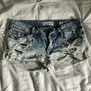 Super distressed short shorts from pacsun